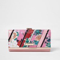River Island Womens Pink And Red Floral Print Purse