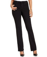Style And Co. Bootcut Leg Tummy Control Jeans Noir Wash Only At Macy's