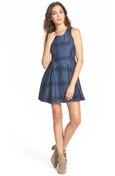 Element 'Marisa' Plaid Skater Dress Navy