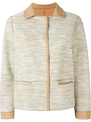 Yves Salomon Buttoned Jacket Nude And Neutrals