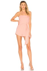By The Way Sophya Strapless Bow Romper Blush