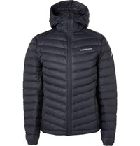 Peak Performance Frost Quilted Hooded Down Jacket Navy