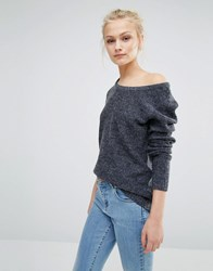 Vila Long Sleeve Jumper Dark Grey Marl