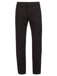 Dunhill Straight Leg Cotton Chino Trousers Black