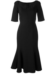 Dolce And Gabbana Peplum Hem Dress Black