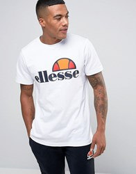 Ellesse T Shirt With Classic Logo White