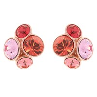 Ted Baker Lynda Swarovski Crystal Cluster Stud Earrings Rose Gold Coral