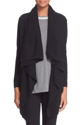 Women's The Kooples Drape Wool And Cashmere Open Cardigan Black