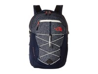 The North Face Women's Borealis Cosmic Blue Heather Calypso Coral Backpack Bags Black