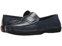 Giorgio Brutini Travis Navy Lace Up Wing Tip Shoes