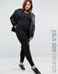 Junarose Legging With Side Panel Black