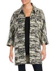 Ivanka Trump Textured Open Front Cardigan