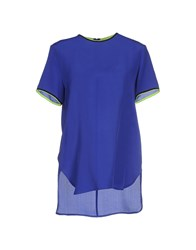 Space Style Concept Shirts Blouses Women Bright Blue