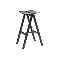 Hay Cph Bar Stool Black Stained Oak
