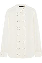 Belstaff Darcy Studded Silk Georgette Blouse White