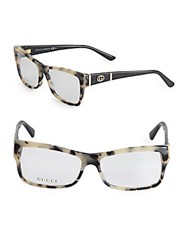 Gucci 69Mm Tortoiseshell Optical Glasses Havana Black