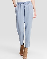 Moon And Meadow Tencel Lyocell Drawstring Pants Chambray