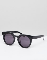 Selected Femme Handmade Acetate Sunglasses With Hard Case Black