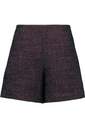 Carven Boucle Tweed Shorts Burgundy