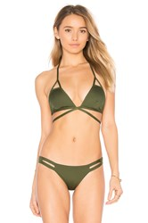 Vitamin A Serra Keyhole Wrap Top Green