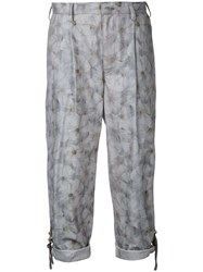 Kolor Floral Print Cropped Trousers Grey