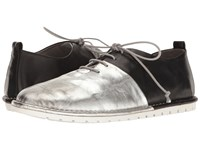 Marsell Bicolor Lace Up Pull On Oxford Black Silver