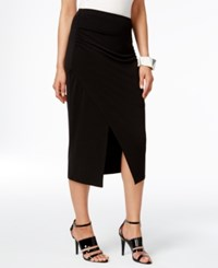 Alfani Faux Wrap Pencil Skirt Only At Macy's Deep Black