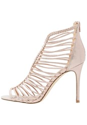 Miss Selfridge Craze High Heeled Sandals Rose Gold