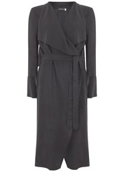 Mint Velvet Smoke Duster Coat Grey