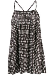Chanel Vintage 2010'S Polka Dotted Loose Dress Black