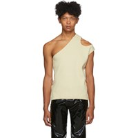 Telfar Off White Asymmetric Tank Top