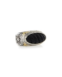 Konstantino Iris Carved Onyx Ring Size 8