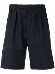 Golden Goose Deluxe Brand Pleated Shorts Blue