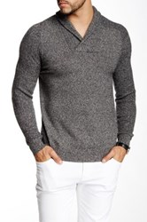 Autumn Cashmere Cashmere Shaw Collar Sweater Gray