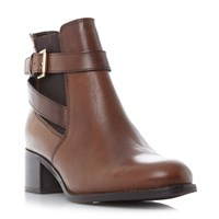 Linea Postin Chelsea Ankle Strap Boots Tan
