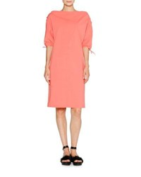 Tomas Maier Sporty Poplin Tie Shoulder Dress Coral