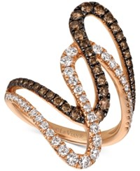 Le Vian Chocolatier Diamond Abstract Swirl Ring 1 1 6 Ct. T.W. In 14K Rose Gold
