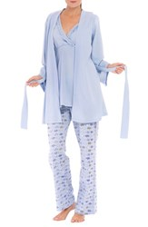 Olian Women's 'Anne' Maternity Pajamas And Robe With Coordinating Pillowcase