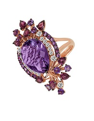 Levian Multicolor Amethyst Ring In 14K Strawberry Gold Amethyst Rose Gold