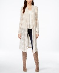 Inc International Concepts Petite Open Front Striped Cardigan Only At Macy's