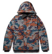 Canada Goose Macmillan Slim Fit Camouflage Print Quilted Arctic Tech Hooded Down Parka Gray