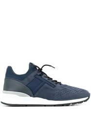 Tod's Lace Up Sneakers Blue