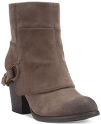 Fergalicious Liza Cuffed Booties Women's Shoes Taupe