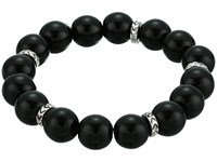 The Sak Color Bead Stretch Bracelet Black Silver Bracelet