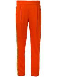 Each X Other Tuxedo Trousers Women Acetate Viscose Xs Yellow Orange