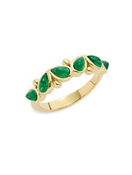 Temple St. Clair Diamond Emerald Peridot And 18K Yellow Gold Oliva Ring