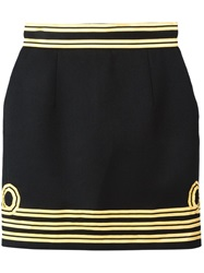 Dsquared2 Contrast Piped Trim Skirt Black