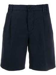 Aspesi Classic Tailored Shorts Blue