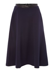 La Fee Maraboutee Block Colour Skirt Belted Waist Blue
