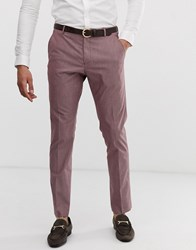 Selected Homme Slim Fit Smart Trousers In Rose Brown